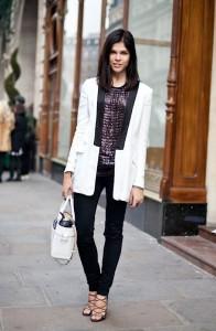 что носить с белым пиджаком