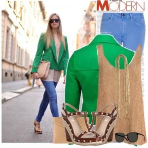 зеленый пиджак, с чем носить