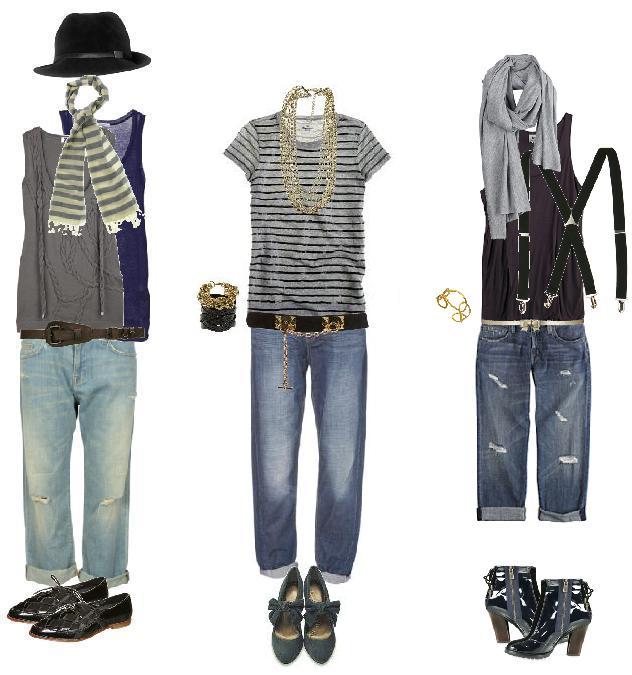 с чем носить синие джинсы