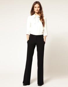 прямые брюки с чем носить ?