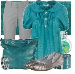 серый с синим