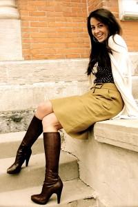 коричневая юбка фото