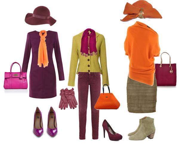 Сочетание оранжевого цвета
