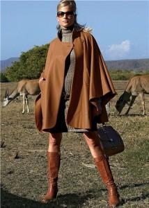 пальто пончо с чем носить