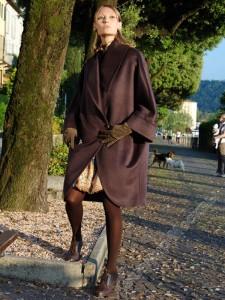 пальто-пончо с чем носить