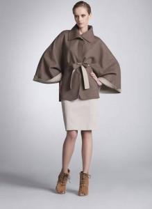 пончо пальто с чем носить