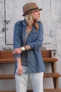 джинсовые женские рубашки