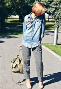 джинсовые рубашки фото