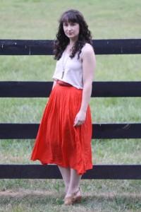 юбки красного цвета