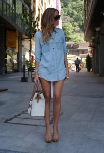 джинсовая рубашка 2013