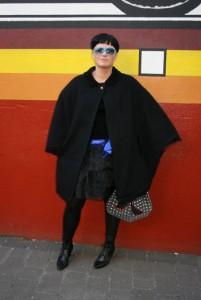 что одеть с пончо пальто