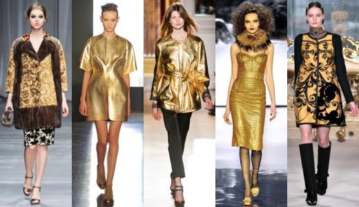 золотистые цвета в одежде