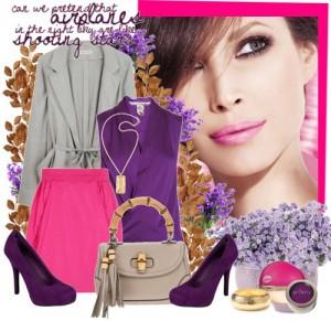 лиловый цвет, сочетания
