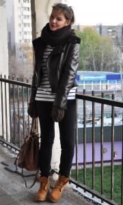 С какой курткой носить тимберленды