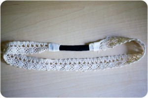 Ободок на резинке из лент своими руками