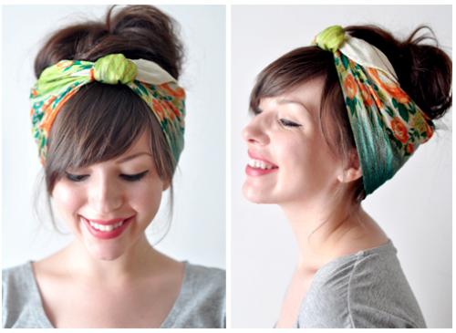 завязывание шарфов на голове