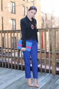 синие брюки фото