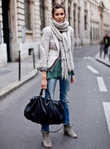 теплые шарфы фото