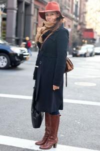 женское пальто черное