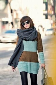 как красиво завязать длинный шарф