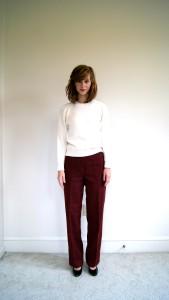 бордовые брюки фото