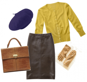 кожаные мини юбки