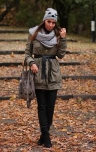 как красиво завязать теплый шарф
