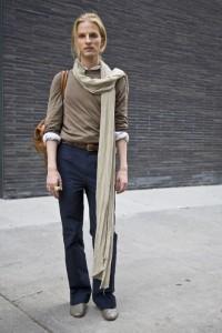способы завязывания длинных шарфов
