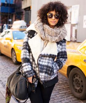 Большое пальто зимнее