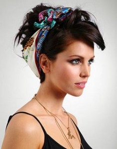 как носить шарф на голове