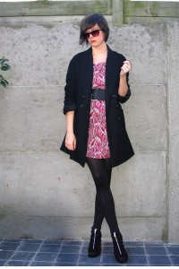 черное пальто фото