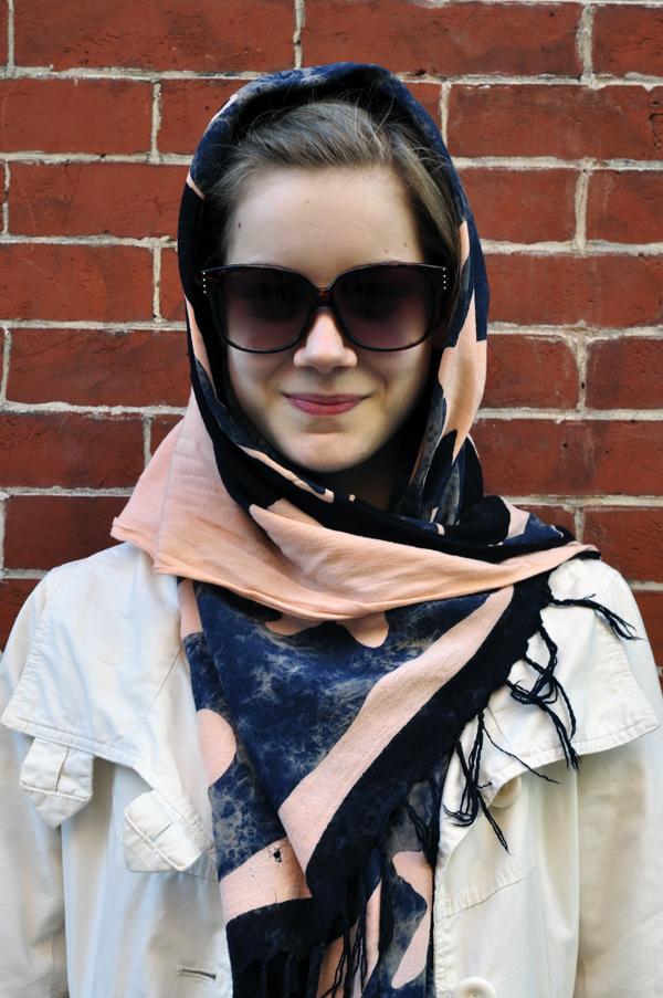 Картинки как носить платок на голове зимой