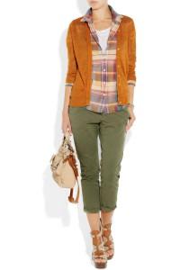 гармоничное сочетание с зелеными брюками