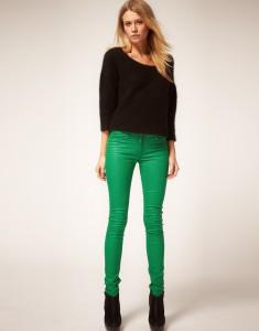 зеленые брюки, с чем надевать