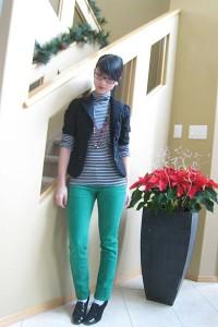как и с чем носить зеленый брюки