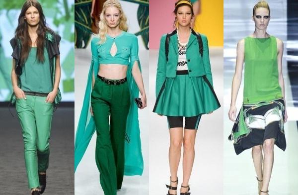 как носить зеленые брюки