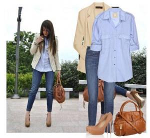 классическое сочетание джинсов и пиджака