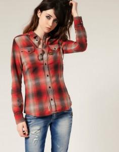 рубашка и джинсы, как носить