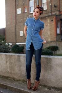 рубашка с джинсами как носить