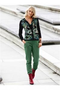 с чем надеть зеленый брюки