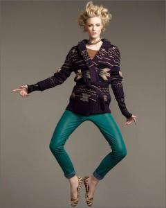 с чем носить зеленый брюки