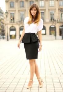 юбка с баской с чем носить