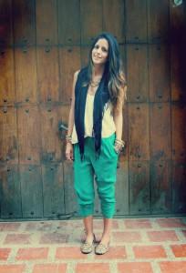 зеленые брюки фото