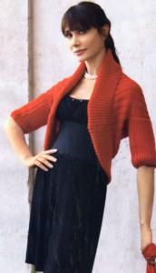вязаное болеро фото