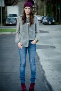 рубашка с джинсами фото