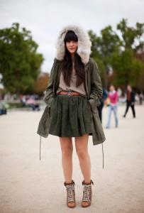 С чем носить куртку парку