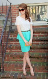 юбка с баской фото