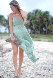 Одежда цвета морской волны