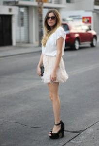 юбка бежевого цвета
