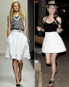 С чем носить длинную белую юбку